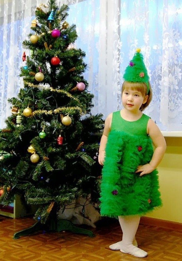 костюм елочки для девочки на новый год фото 9