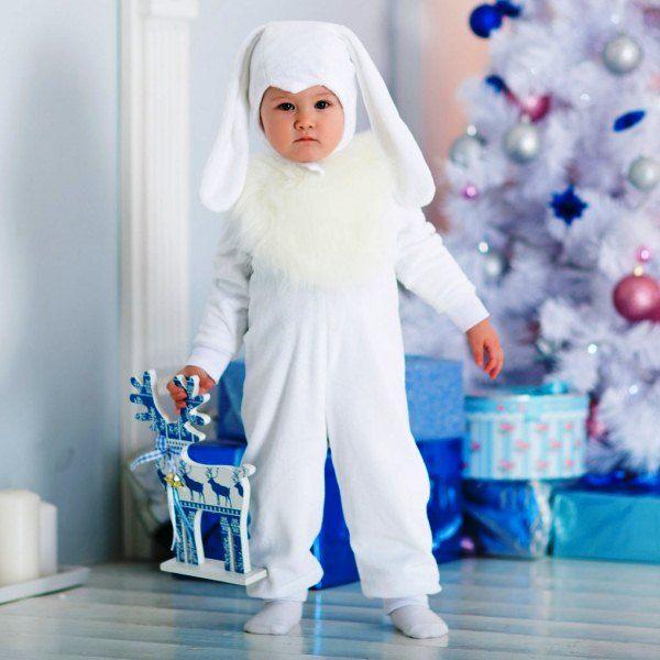 Новогодний костюм зайчика фото
