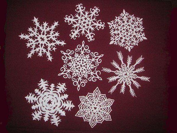 снежинки на окна фото