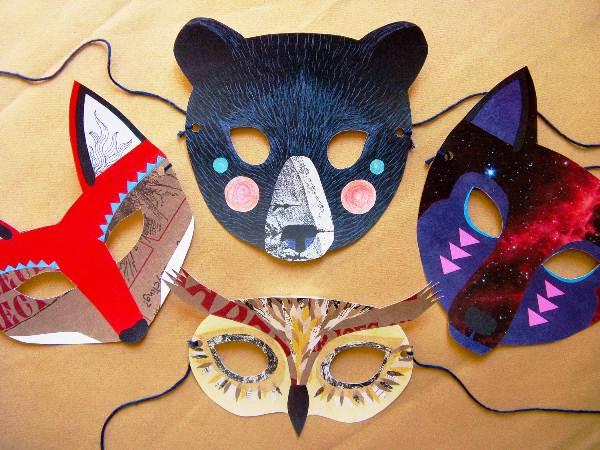 маски из бумаги фото