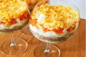 мимоза рецепт классический пошаговый рецепт с фото
