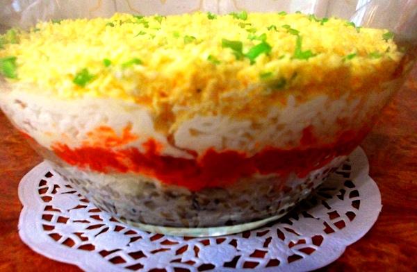 Салат мимоза рецепт с консервой классический пошаговый рецепт с фото