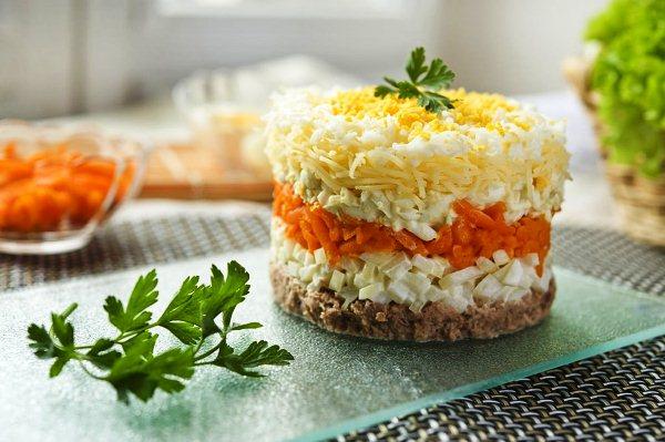 Салат мимоза с тунцом классический рецепт с фото