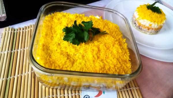 Салат мимоза рецепт классический рецепт пошаговый с фото без морковки