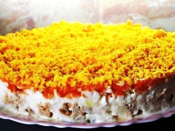 Салат мимоза с горбушей классический рецепт с фото