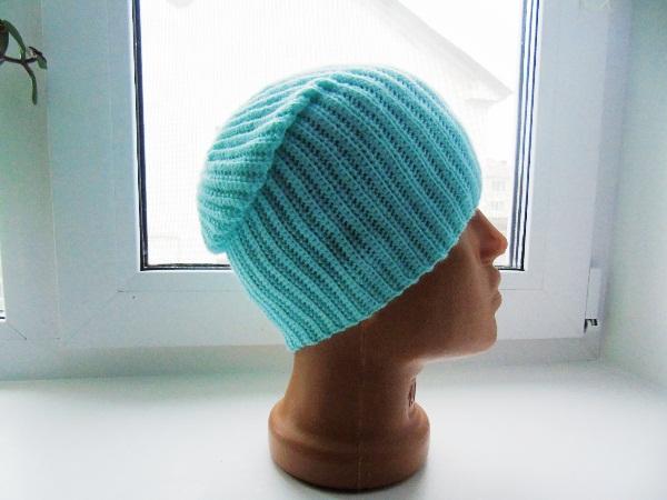 шапка бини спицами фото 7