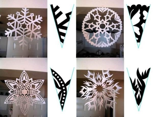 снежинки из бумаги фото 12