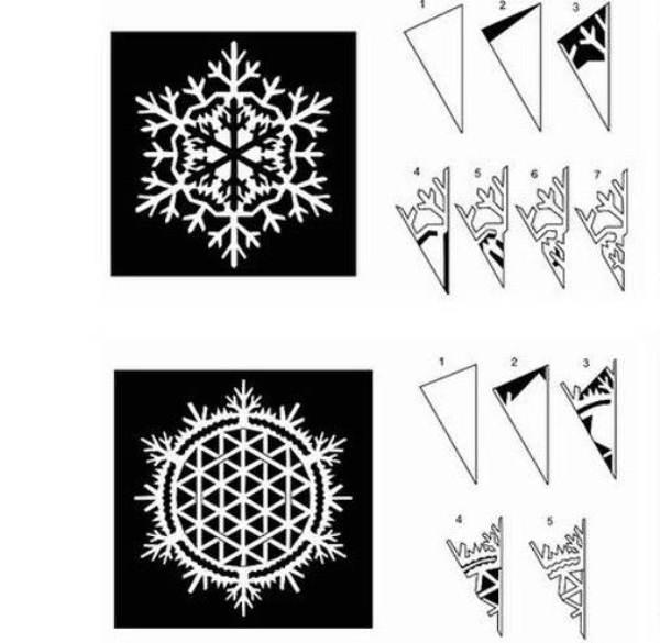 снежинки из бумаги фото 13