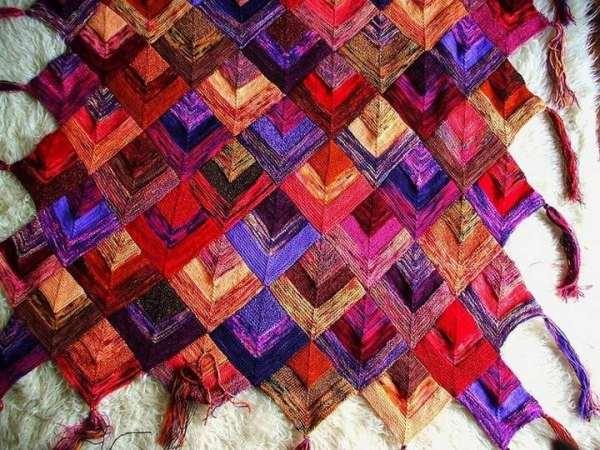 вязание спицами в стиле пэчворк фото 2