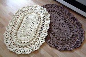вязание ковров из шнура крючком схемы