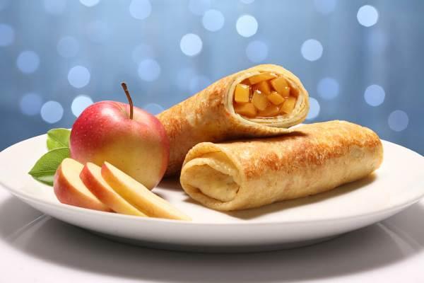 Блины с яблочной начинкой рецепт с фото