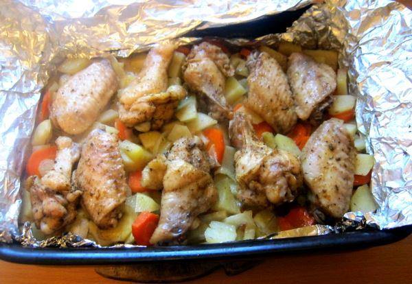 куриные крылышки в духовке рецепт с фото 9