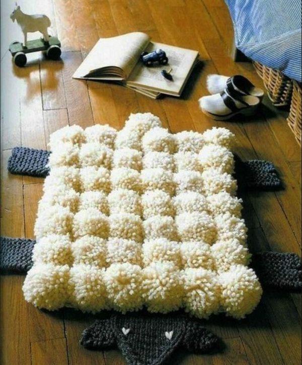 коврик из помпонов фото