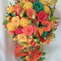 цветы из атласных лент фото 35