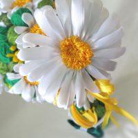 цветы из атласных лент фото 36