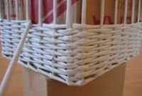 плетение корзины из газеты