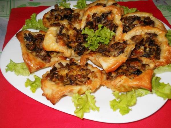 Тарталетки с грибной начинкой рецепты с фото