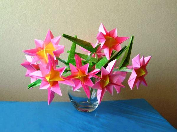 цветы из бумаги фото