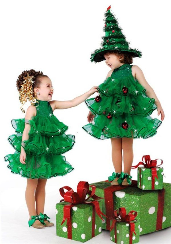 костюм елочки для девочки на новый год фото 4