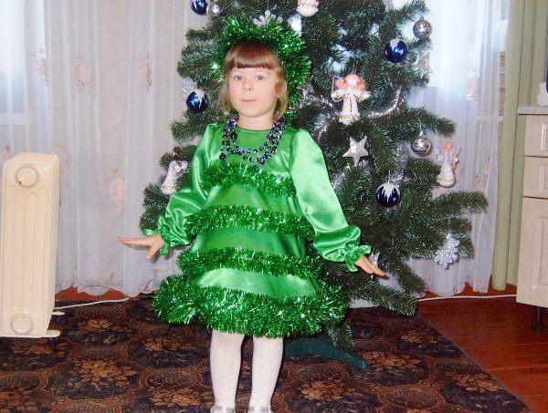 Костюм елочки для девочки на Новый год фото