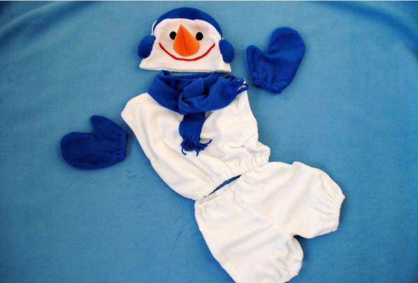 Костюм снеговика своими руками фото