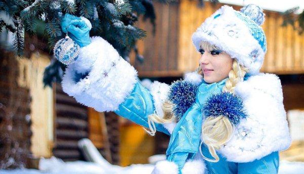 Костюм Снегурочки для взрослых своими руками фото