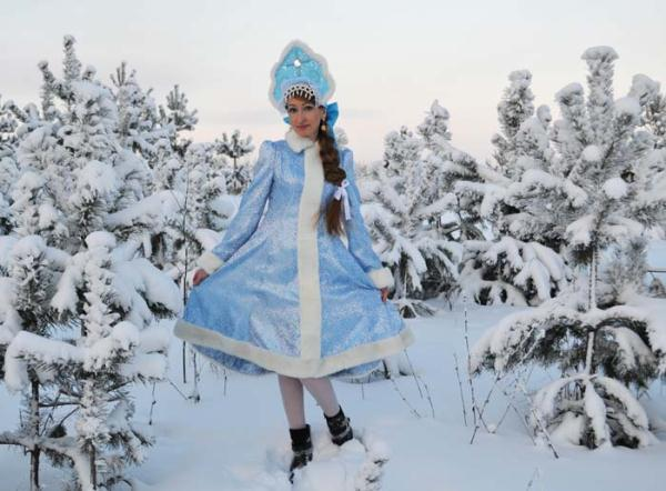 Новогодний костюм снегурочки взрослый фото