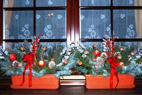 украшение окон к новому году фото 20