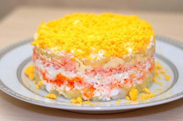 Мимоза рецепт классический пошаговый рецепт с фото с сыром