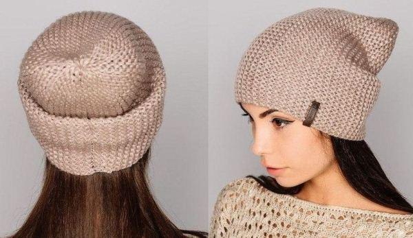 шапка бини спицами фото 8