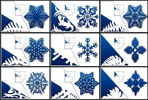 Красивые снежинки из бумаги схемы для вырезания фото 10