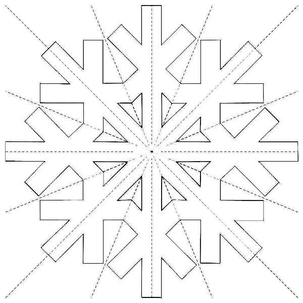 снежинки из бумаги фото 17