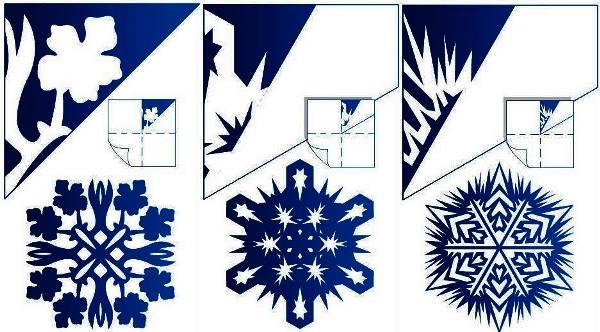 Красивые снежинки из бумаги схемы для вырезания фото 9