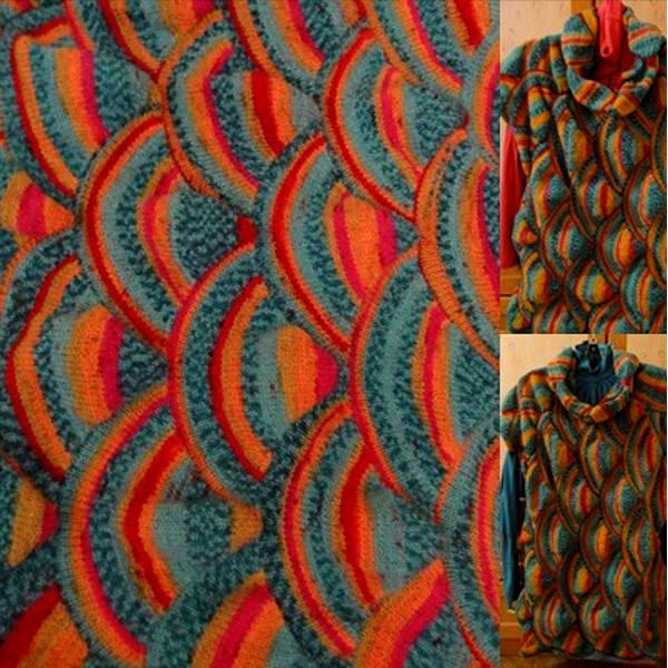вязание спицами в стиле пэчворк фото 12