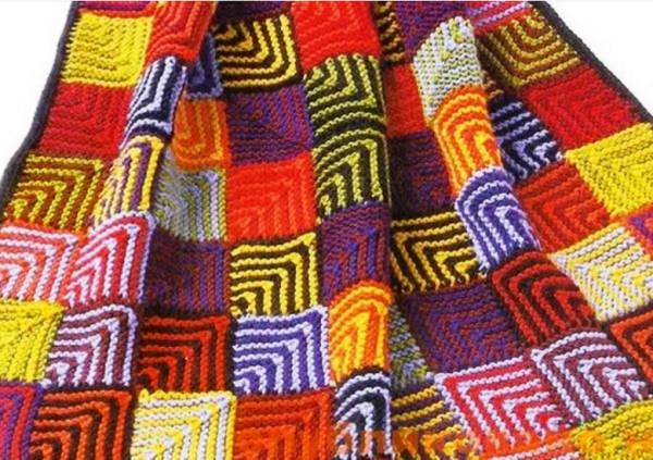 вязание спицами в стиле пэчворк фото 4