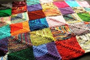 вязание спицами в стиле пэчворк