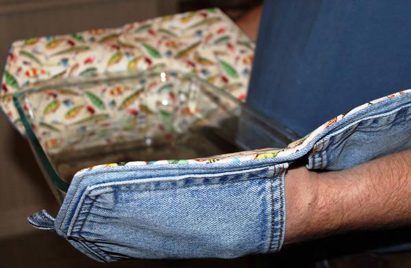 как сшить прихватки из старых джинсов