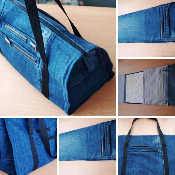 sumka-iz-staryh-dzhinsov-svoimi-rukami-foto-2 Что можно сделать из старых джинсов? Как сшить сумку, рюкзак, юбку, шорты, сарафан и жилетку из старых джинсов своими руками?