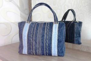 sumka-iz-staryh-dzhinsov-svoimi-rukami Что можно сделать из старых джинсов? Как сшить сумку, рюкзак, юбку, шорты, сарафан и жилетку из старых джинсов своими руками?