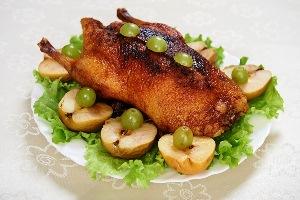 рецепт утки с яблоками пошаговый рецепт фото в духовке