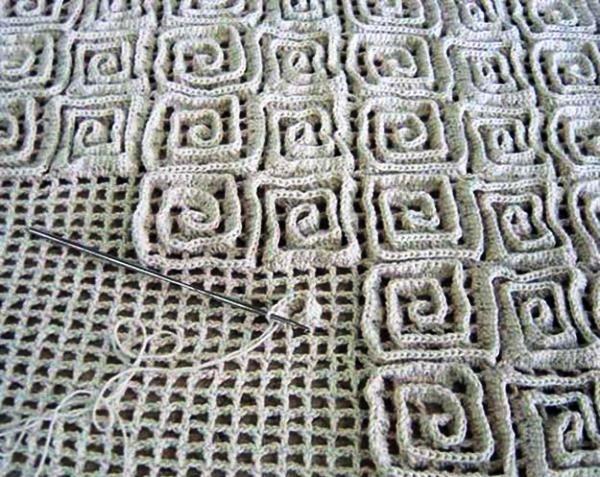 коврик на филейной сетке