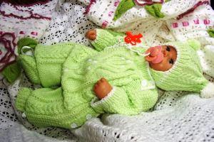 костюм для новорожденного спицами 0 3 месяцев