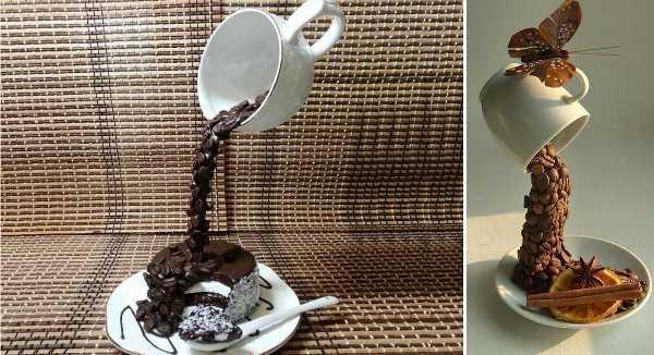 топиарий парящая чашка кофе своими руками