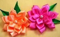 цветы из атласных лент своими руками мастер класс для начинающих