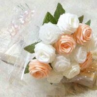 цветы из атласных лент фото 22