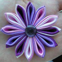 цветы из атласных лент фото 38