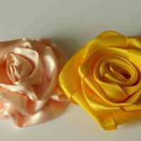 цветы из атласных лент фото 45