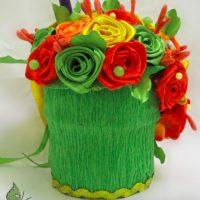 цветы из атласных лент фото 48