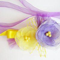цветы из атласных лент фото 57