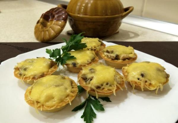 Самые вкусные тарталетки с начинкой рецепты с фото с грибами